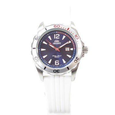 ORIENT Uhr Sport Deep Diver Quarz Datum blue Kautschuk FSZ3V004D0