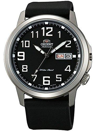 Orient 42 mm Stachelrochen Tag und Datum Automatik Uhr mit schwarzem Zifferblatt em7 K00cb