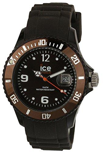 Ice Watch Unisex Armbanduhr Ice Chocolate Analog Quarz Silikon CT KC U S 10