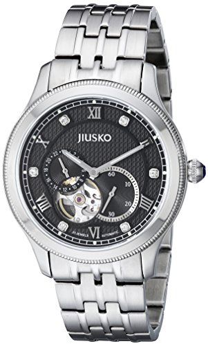 Jiusko Mens 151LS02 Jewel Skelett 21 Automatische Stainless Steel Dress Watch