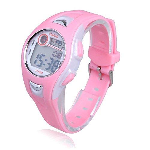 Kinder Armbanduhr iTaiTek Kinder Jungen Maedchen Schwimmen Sport Digital Armbanduhr IT 628 Wasserdicht rosa