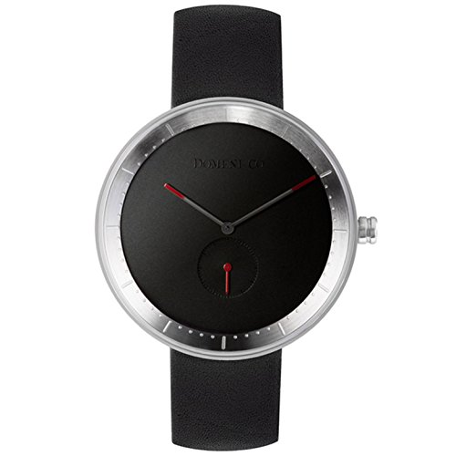 domeni CO ssl02 Unisex Signature Series Edelstahl schwarz Lederband schwarz Zifferblatt Armbanduhr