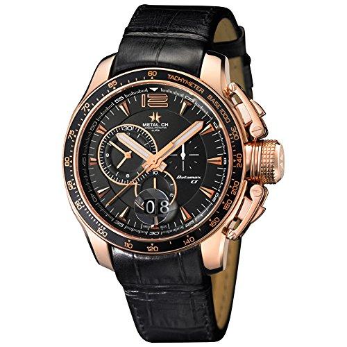 METAL Chronometrie Swiss Made Uhr DATAMAXX gold 44mm