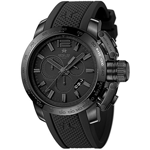 METAL Chronometrie Swiss Made Uhr SPORT schwarz 47mm