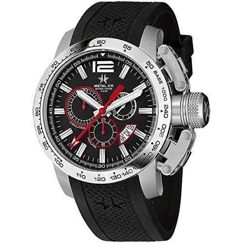 METAL Chronometrie Swiss Made Uhr SPORT silber 47mm