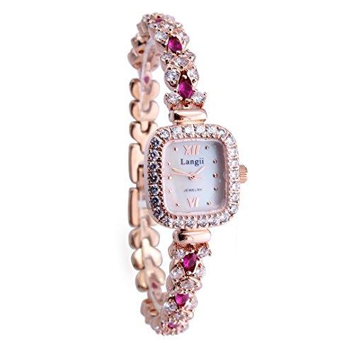 langii lrg1514b18pk Perlmutt gold Watch Jewelry Armband Uhren Band