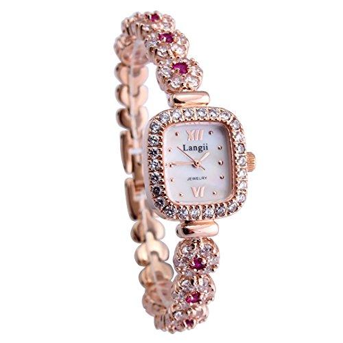 Langii Lrg1514b21pk Damen Armbanduhr mit Rotgold vergoldet