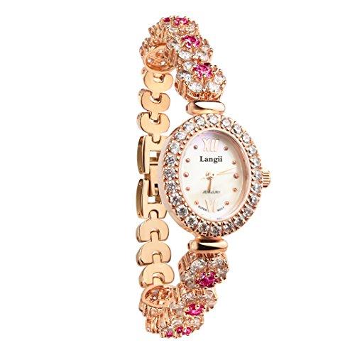 langii lrg1516b21pk Jewelry Armband Uhren fuer Frauen Luxus Fashion Gold Armbanduhr