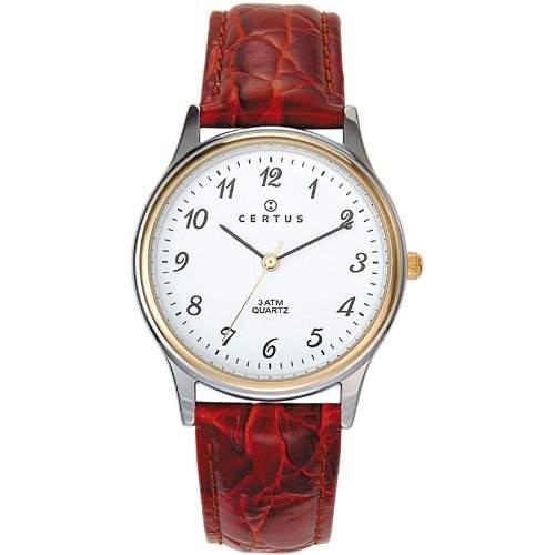 Certus Herren-Armbanduhr Analog Quarz Braun 611217