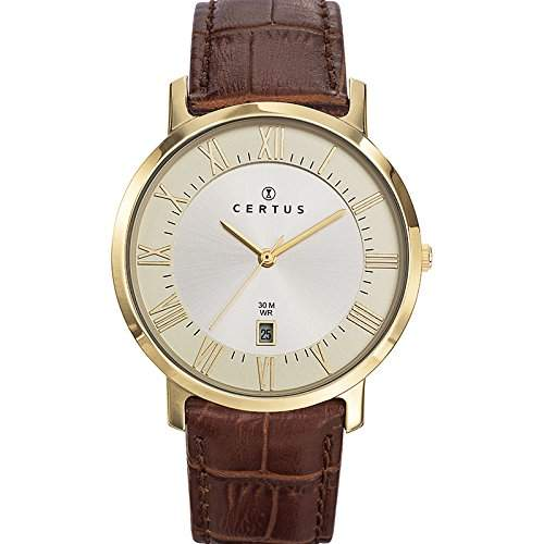 Certus Herren-Armbanduhr 612357 Analog Quarz Braun 612357