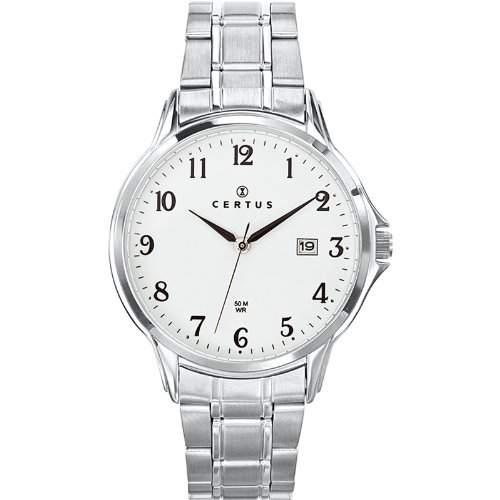 Certus Herren-Armbanduhr Analog Edelstahl silber 616386