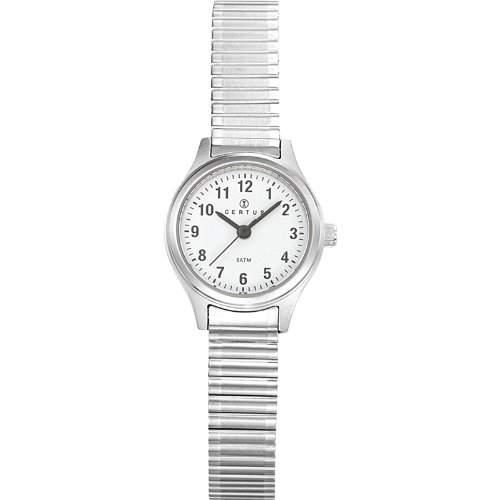 Certus-621340Damen-Armbanduhr 045J699Analog weiss Armband Metall silber