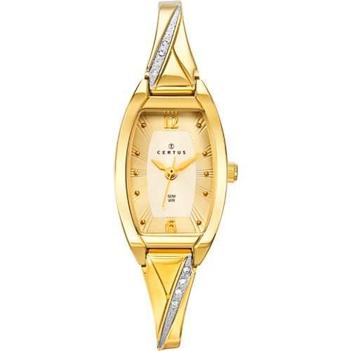 Certus Damen-Armbanduhr 631756 Analog Metall vergoldet