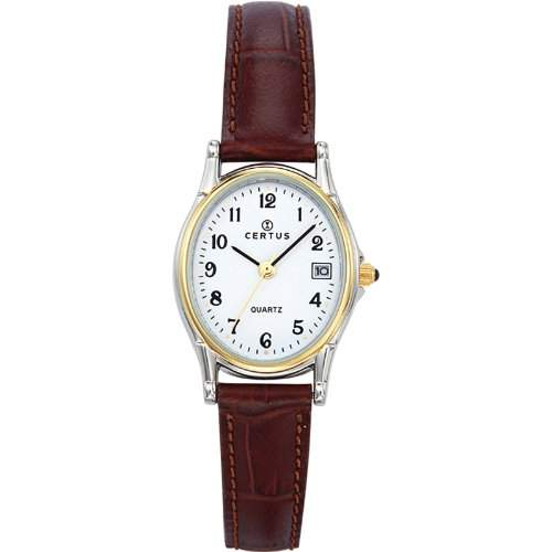 Certus Damen-Armbanduhr Analog Quarz Leder 645332