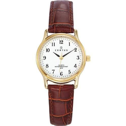 Certus Damen-Armbanduhr Analog Quarz Leder 646239