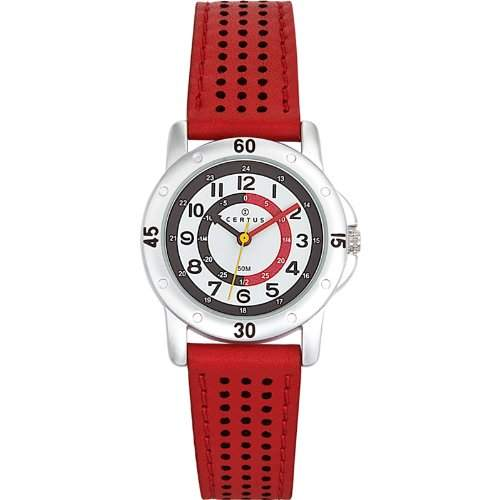 Certus-647493-Zeigt Kinder-Quartz pdagogique-Weisses Ziffernblatt-Armband, Rot