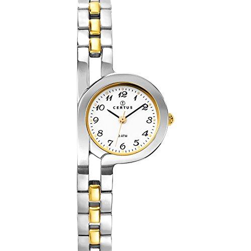 Certus 634454 045J699 Analog weiss Armband Metall Zweifarbig