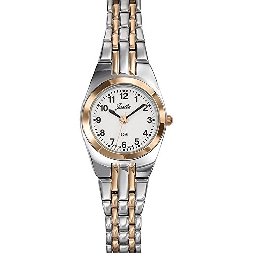 Certus 642404 Damen Armbanduhr 045J699 Analog weiss Armband Metall Zweifarbig