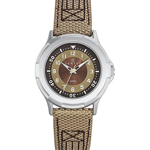 Certus 647555 Armbanduhr Quarz Analog Zifferblatt braun Armband PU zweifarbig