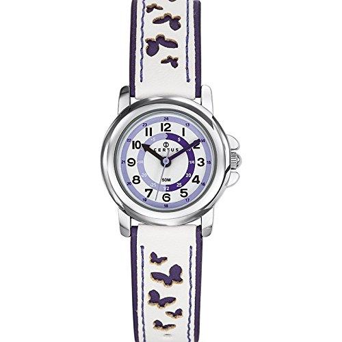Certus 647589 Armbanduhr Quarz Analog Weisses Ziffernblatt Armband Kunststoff zweifarbig