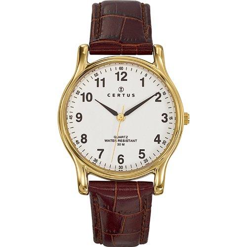 Certus Herren Armbanduhr Analog Quarz Leder 611231