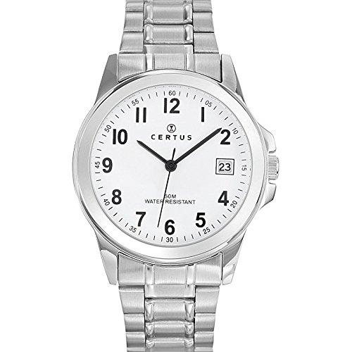 Certus Herren Armbanduhr Analog Quarz Silber 616217