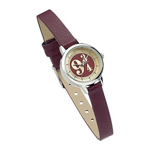 Harry Potter Gleis 9 3 4 Armbanduhr bordeaux Edelstahl