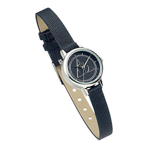 Harry Potter Heiligtuemer des Todes Armbanduhr schwarz Edelstahl