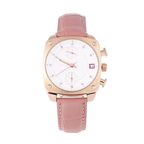 Leopard Shop guou 8108 Frauen quadratisches Zifferblatt Chronograph Kuenstliche Diamant Skala 3 ATM Armbanduhr Pink