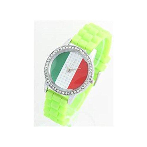 Damen Armbanduhr Silikon gruen 307
