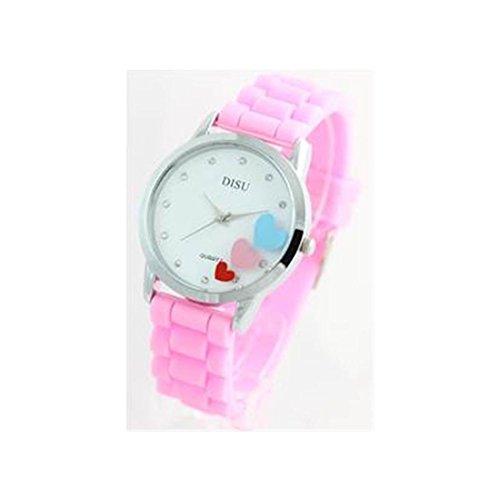 Damen Armbanduhr Silikon rosa 501