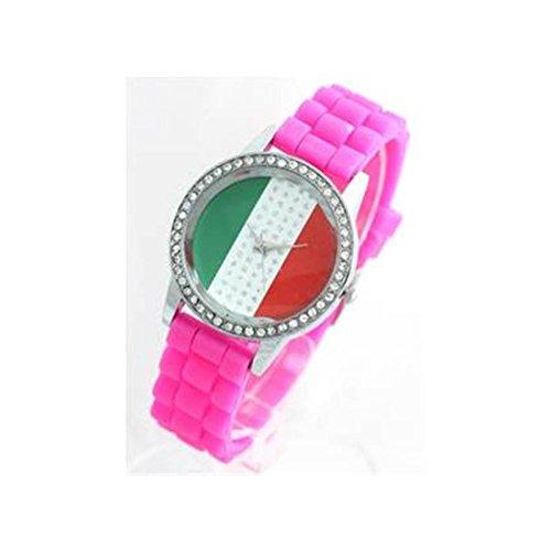 Damen Armbanduhr Silikon rosa 583