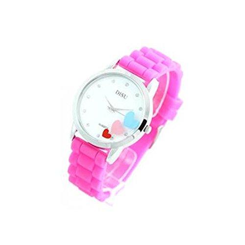 Damen Armbanduhr Silikon rosa 662