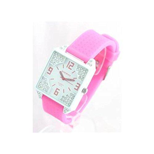 Damen Armbanduhr Silikon rosa 724