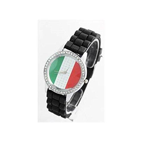 Damen Armbanduhr Silikon schwarz 115