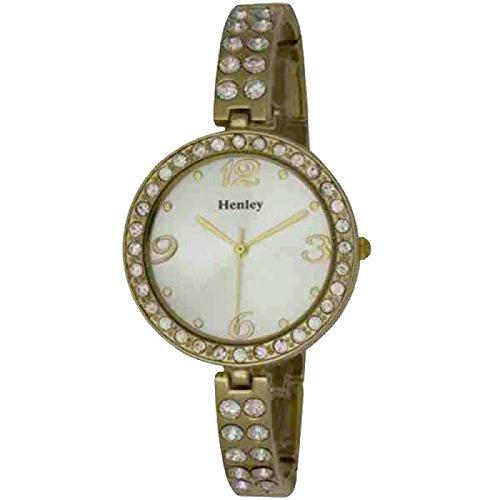 HENLEY GLAMOUR H07131 2 Durch Kristalle verzierte mit schmalem Armband