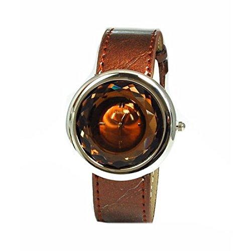 Henley Glamour H06021 4 mit rundem polierten Chromgehaeuse und facettenreich geschliffenem Mineralglas