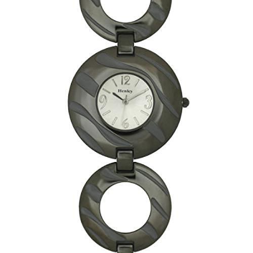 HENLEY GLAMOUR aus Dunkelgrauem Metall mit Zebra Streifen Design