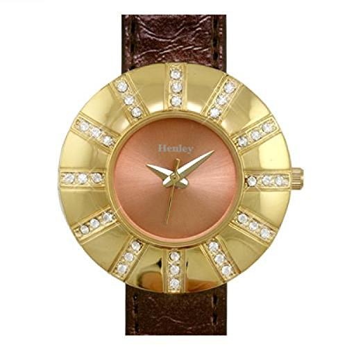 Henley Glamour H06004 3 modische mit bronzefarbenem Armband in Praesentbox