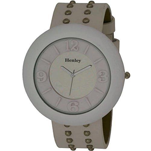 HENLEY H06028 4 weisse mit Naegeln beschlagene