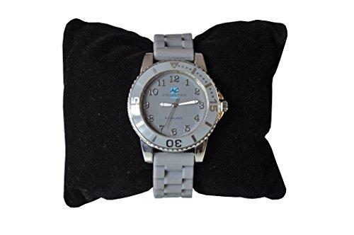 AC Collection Armbanduhr hellgrau mit Kunststoffarmband
