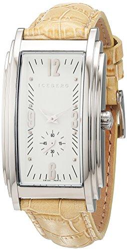 Iceberg Damen Armbanduhr Analog Quarz Leder IC0506 32