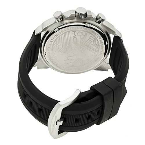 Morphic MPH1901 Schwarze Silikon Band Silber Vorwahlknopf analoge Uhr der Maenner