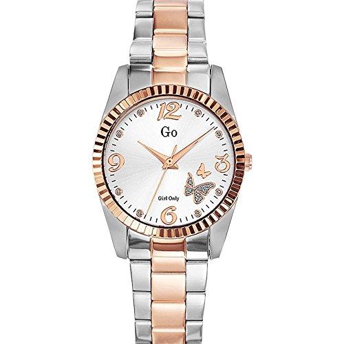 Go Girl Only 694925 Damen Armbanduhr 045J699 Analog silber Armband Stahl zweifarbig