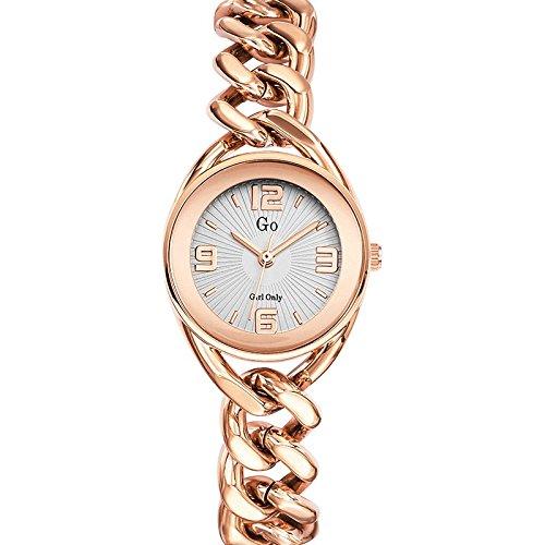 Go Girl Only 695013 Damen Armbanduhr 045J699 Analog silber Armband Stahl Rosa
