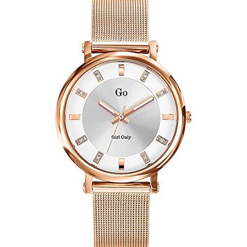 Go Girl Only 695038 Damen Armbanduhr 045J699 Analog silber Armband Stahl Rosa