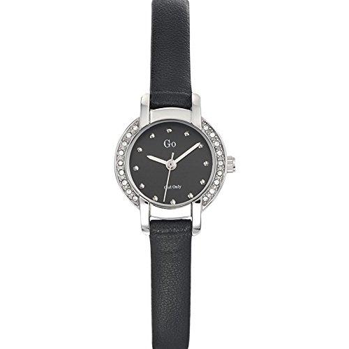 Go Girl Only 698629 Quarz Analog Zifferblatt schwarz Armband Leder schwarz