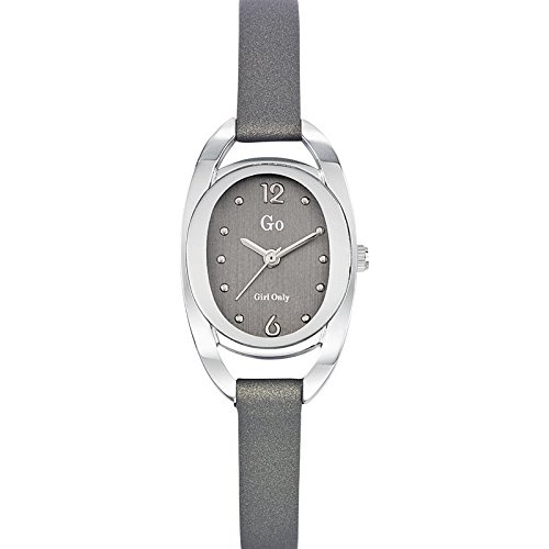 Go Girl Only 698679 Armbanduhr 1076312 Analog Leder Grau