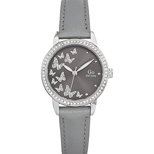 Go Girl Only Damen Armbanduhr 698604 Armbanduhr 1076312 Analog Leder Grau