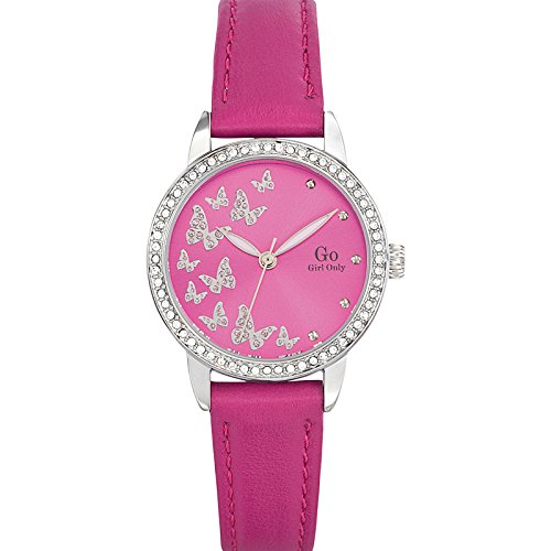 Go Girl Only 698627 Quartz Analog Zifferblatt Rosa Armband Leder rosa
